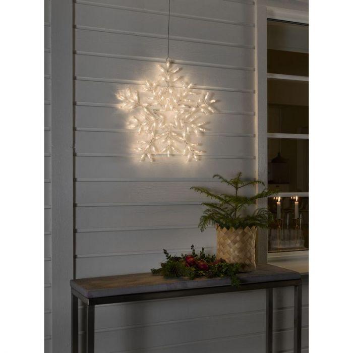 LED Acryl Sneeuwvlok, met 8 functies