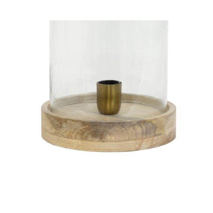 Klassiek, design tafellamp Orion - Hout, Glas