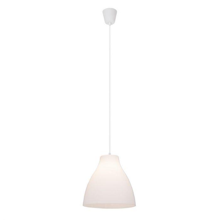 Kunststof hanglamp Paco, Wit
