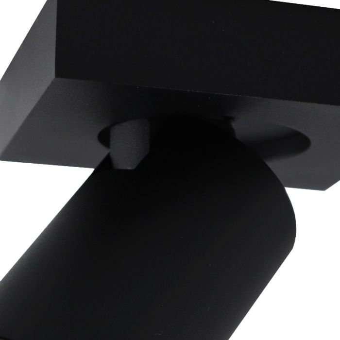 Zwarte badkamer plafondspot Kenan, 1L, IP44