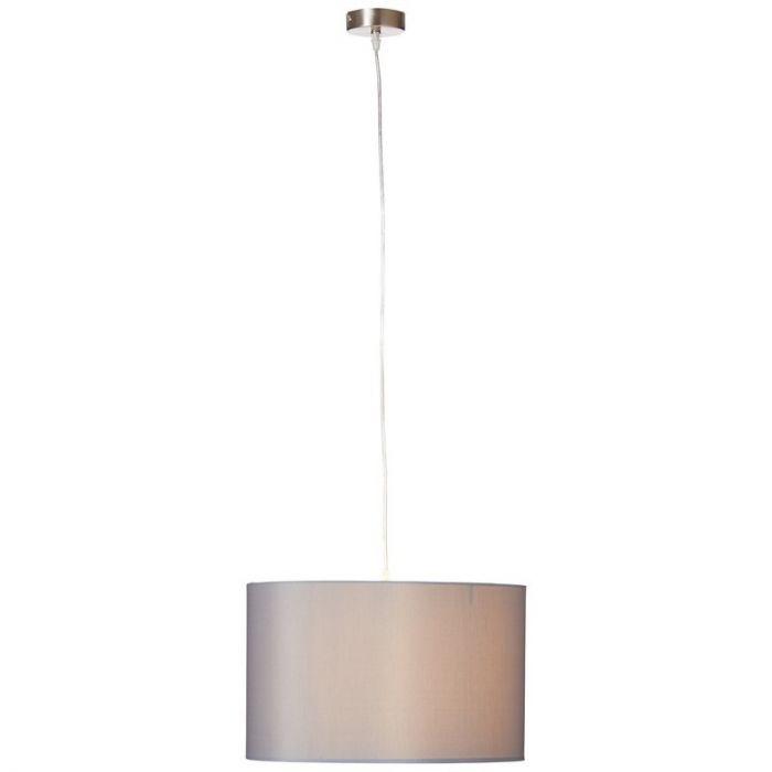 Grijze, stoffen hanglamp Tanno