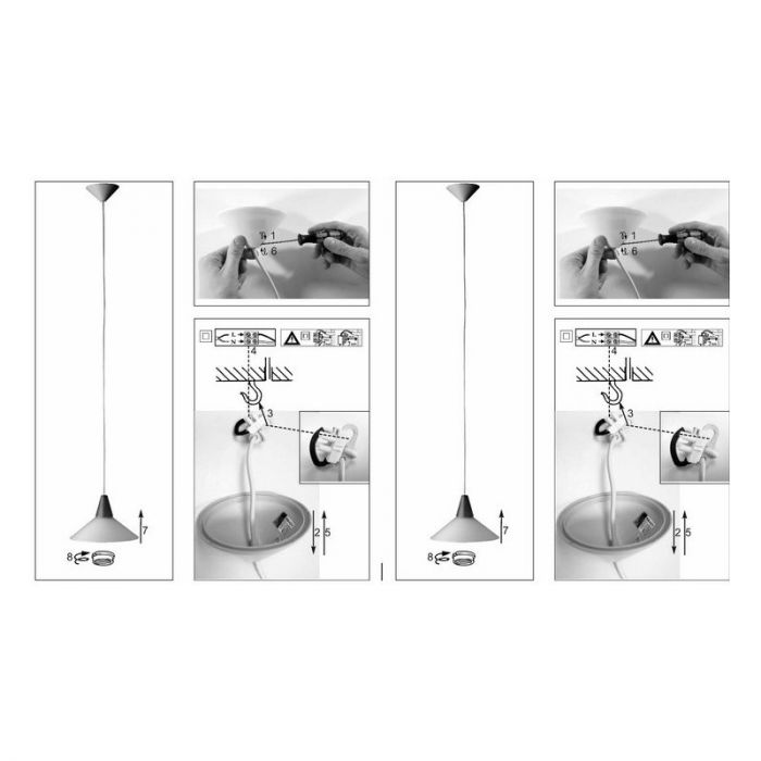 Liv glazen hanglamp - Hout