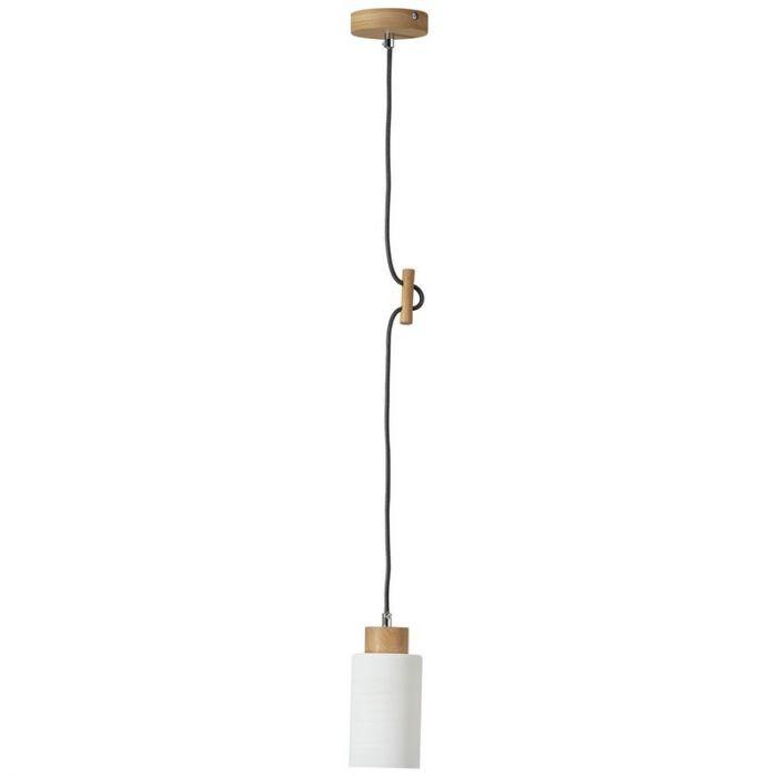 Landelijke, Moderne Hanglamp Jesáyah - Eik, Wit