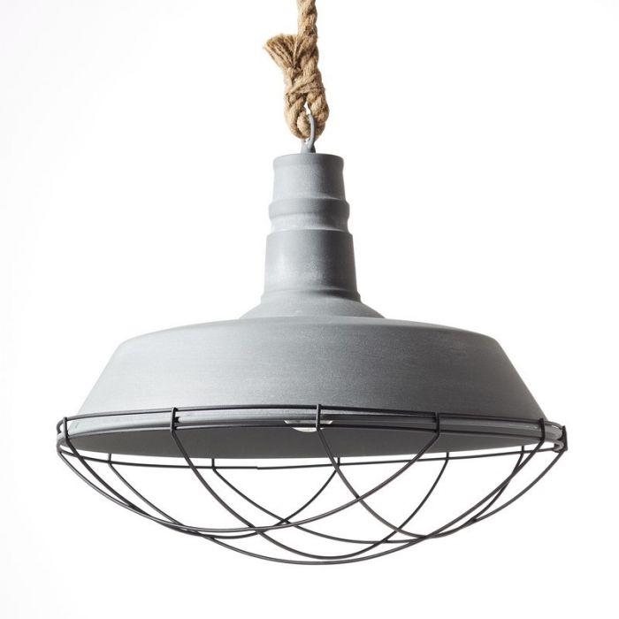 Industriële, Brocante Hanglamp Jeysmell - Beton Grijs