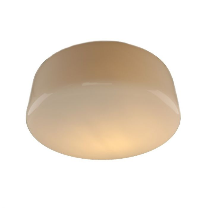 Spierwitte plafondlamp Tren, Glas