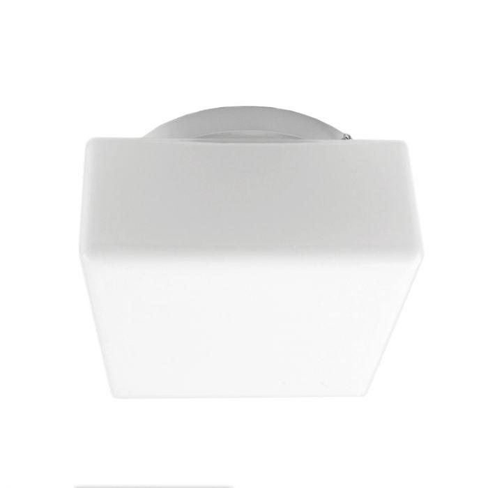 Vierkante plafondlamp Tren, Spierwit