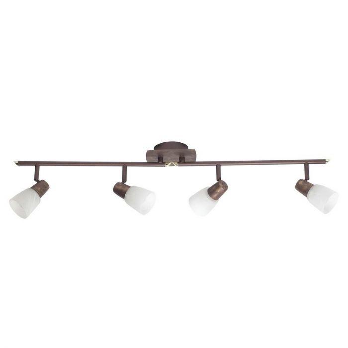 Langwerpige, Bruine plafondlamp Bono