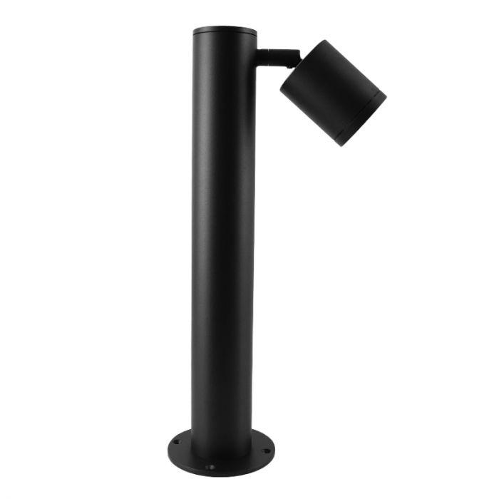 Zwarte moderne buitenlamp, Clevor 1L, aluminium, IP65
