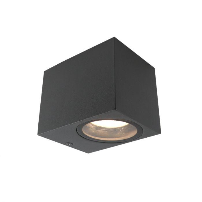 Antraciete moderne buitenlamp, Corella, aluminium, IP44