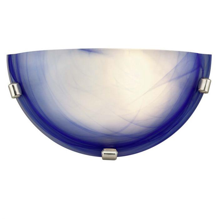 Blauwe wandlamp Alix