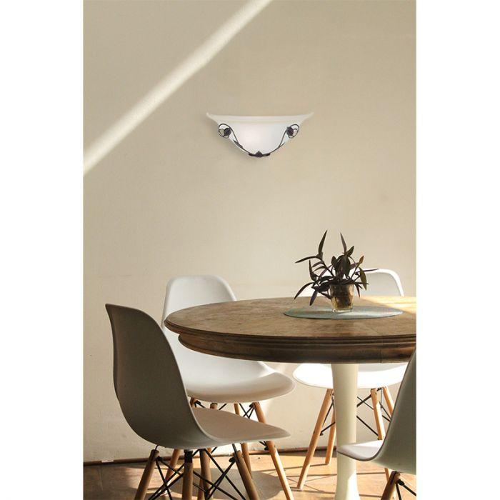 Witte, Bruine wandlamp Ashanty