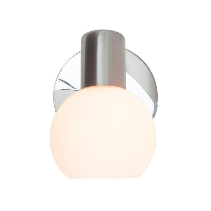 Mat chroom, Witte wandlamp Cathalina
