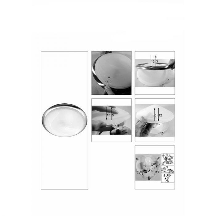 Chroom wandlamp|plafondlamp Hidayah