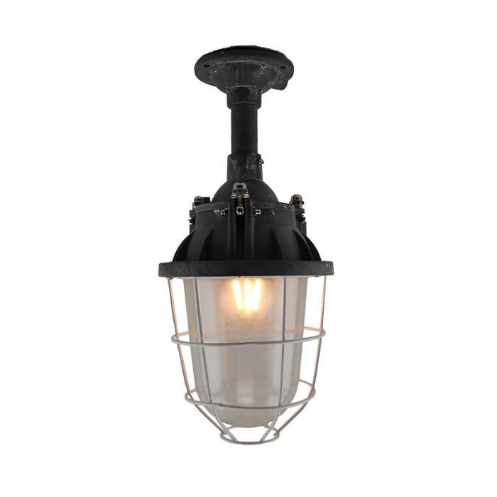 Industriële, Landelijke, Brocante plafondlamp Keoma - Beton Grijs