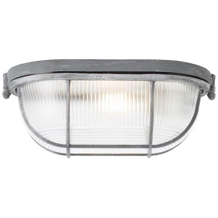 Landelijke, Brocante, Industriële wandlamp Kalie - Beton Grijs
