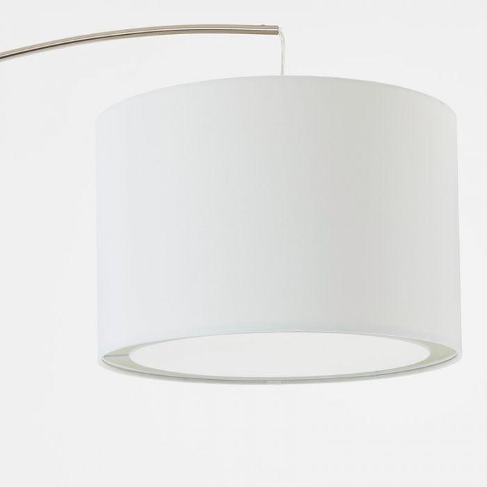 Mat chroom, Witte vloerlamp Izabel