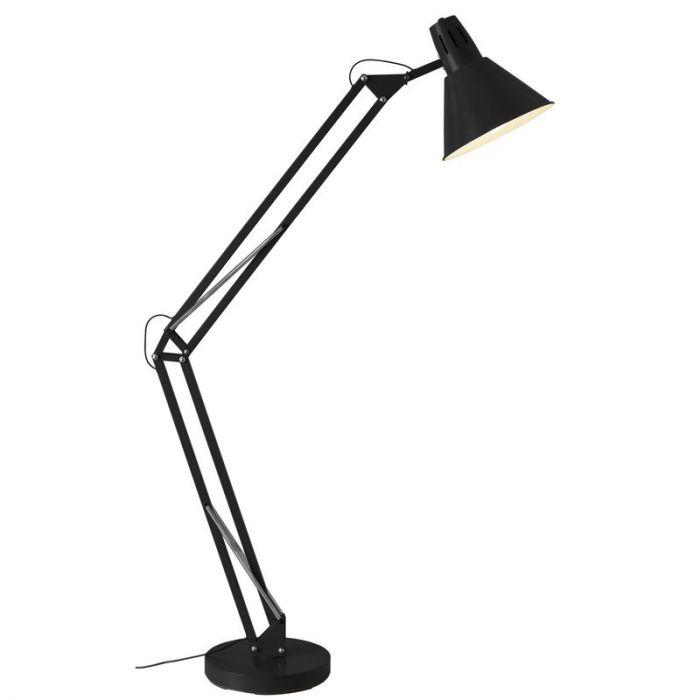 Zwarte vloerlamp Jesselynn