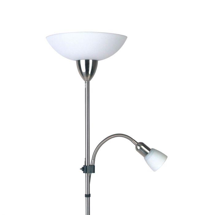 Mat chroom vloerlamp Michel vloerlamp