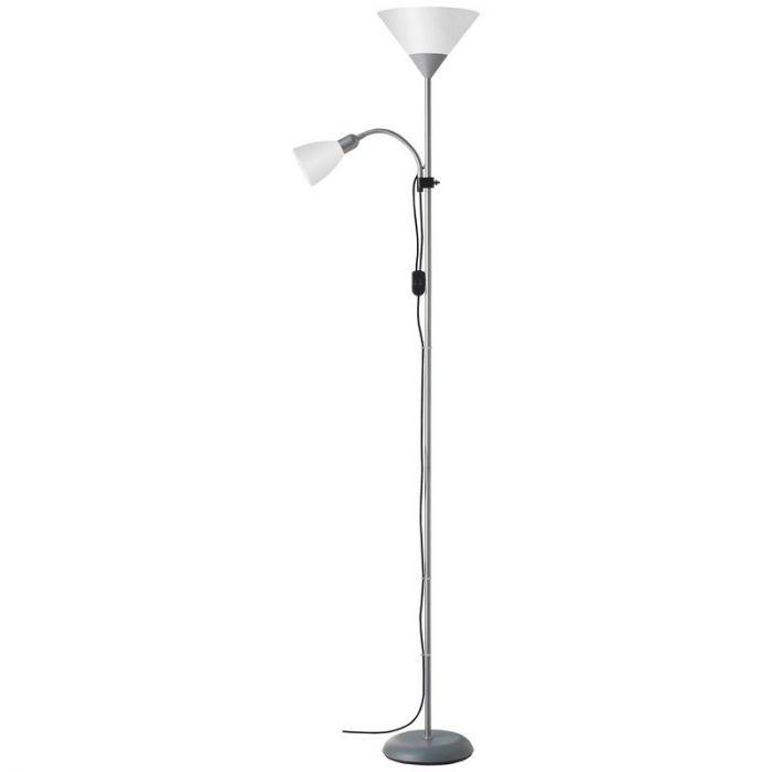 Zilveren, Witte vloerlamp Adam vloerlamp - Wit