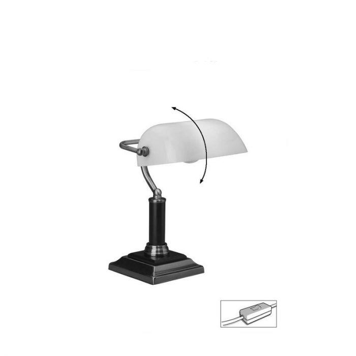Antiek Messing bureaulamp Koosje