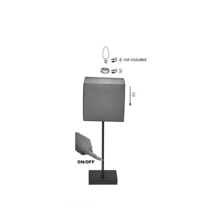 Witte tafellamp Marinda