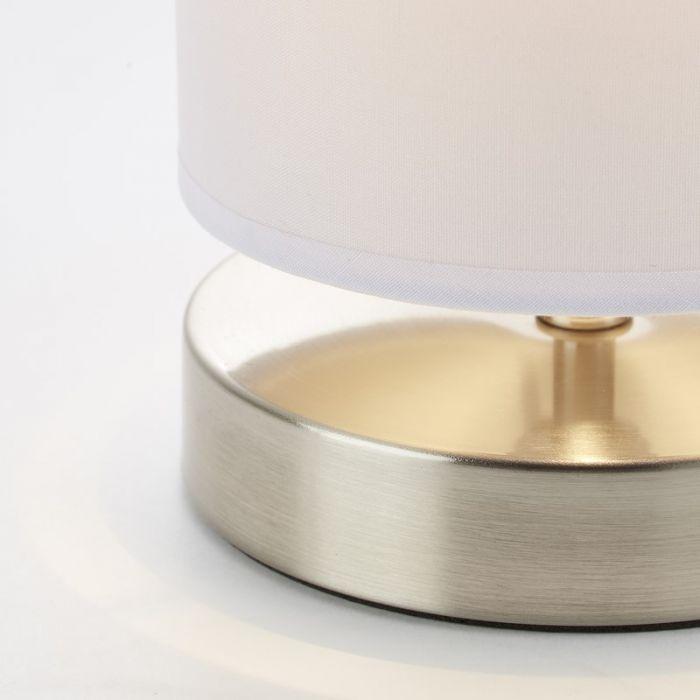 Mat chroom, Witte tafellamp Mercy