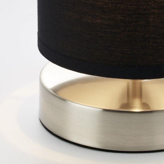 Mat chroom, Zwarte tafellamp Merinde