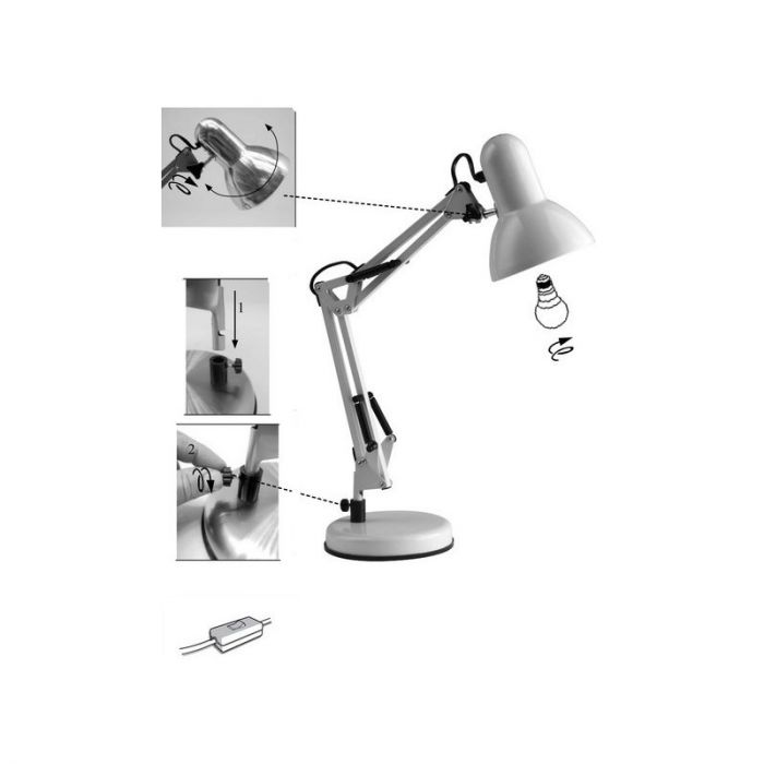 Chroom tafellamp Naline