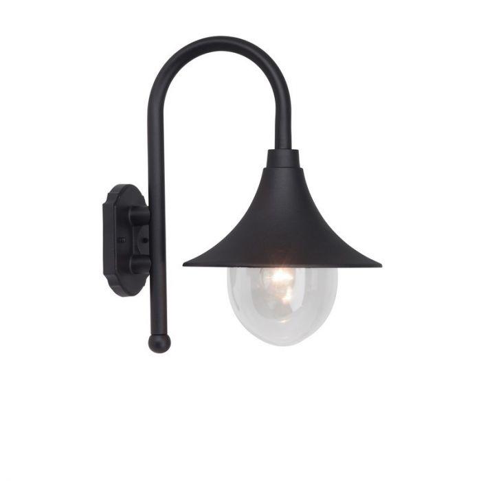 Zwarte buiten wandlamp Viénna