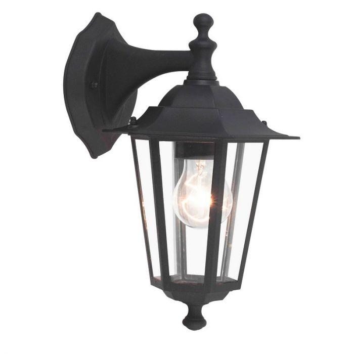 Zwarte buiten wandlamp Yeva