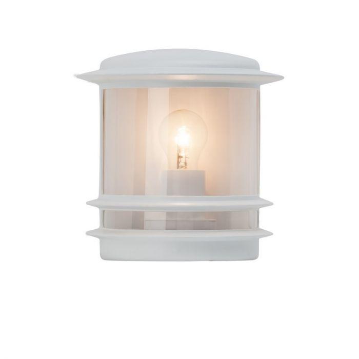 Witte buiten wandlamp Yvon