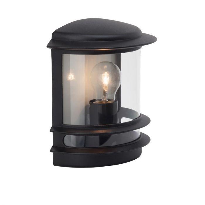 Zwarte buiten wandlamp Zare