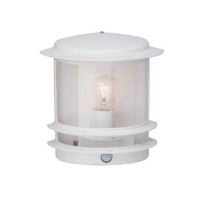 Witte buiten wandlamp Zarina