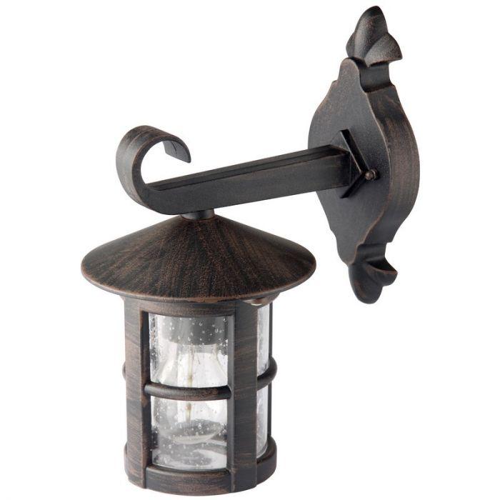 Zwarte, Roestbruine buiten wandlamp Züleyha