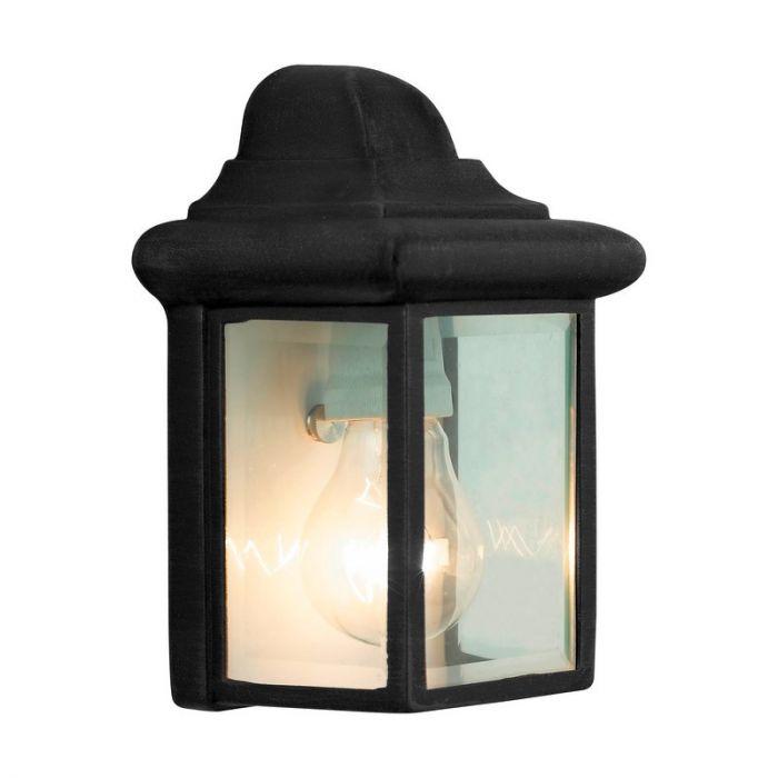 Zwarte buiten wandlamp Abbie