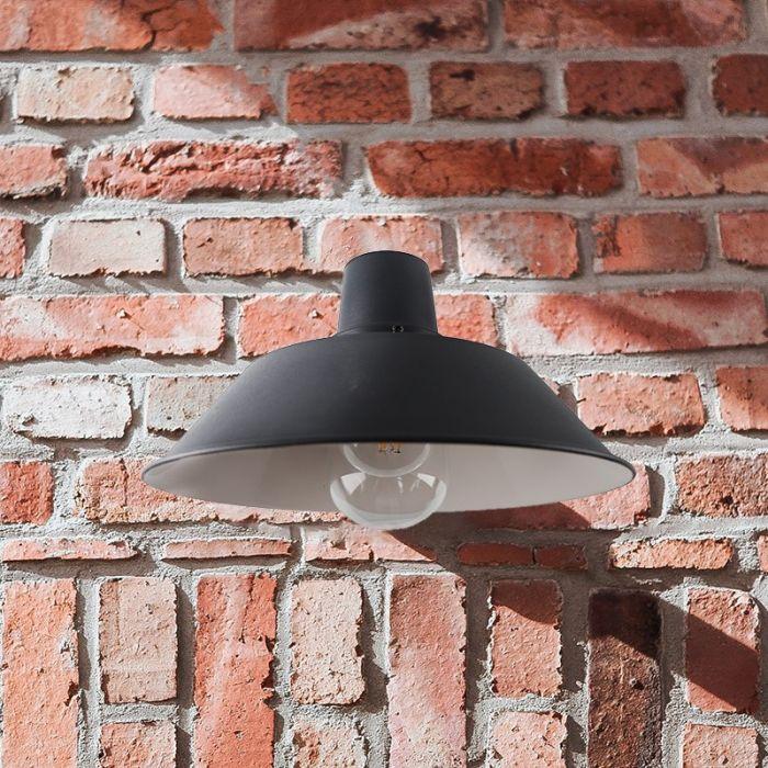 Landelijke, Industriële Buitenlamp Jaydeline - Antraciet