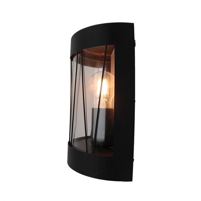 Landelijke, Industriële Buitenlamp Jaynah - Mat Zwart