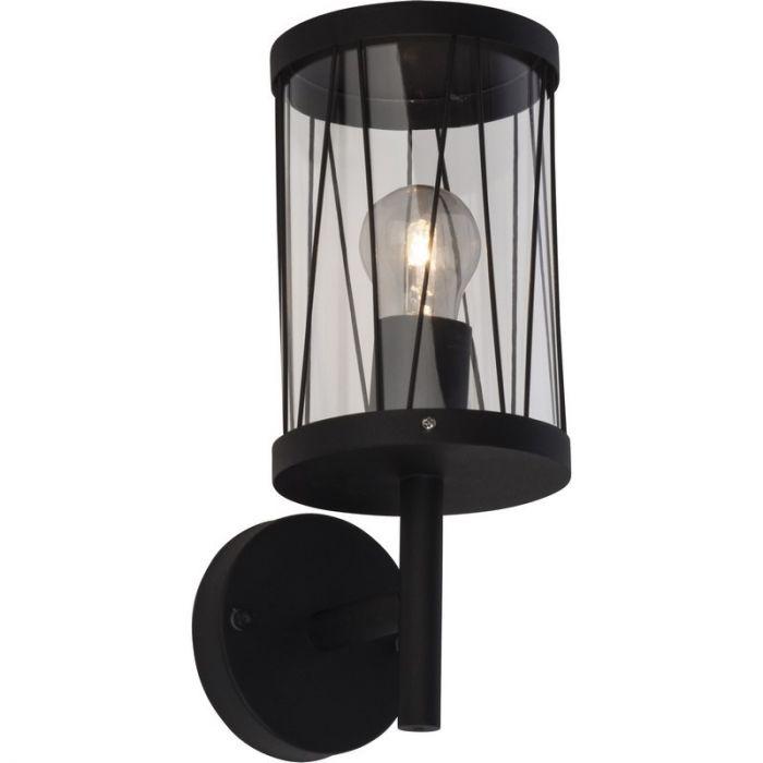 Landelijke, Industriële Buitenlamp Jaynaisha - Mat Zwart