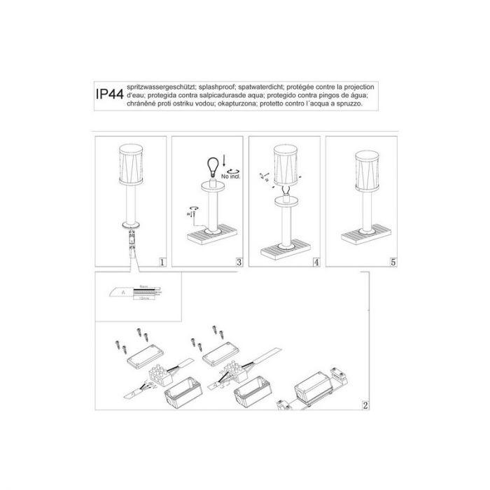 Landelijke, Industriële Buitenlamp Jayne - Mat Zwart