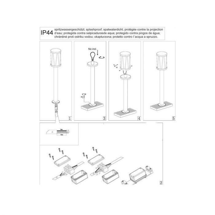 Landelijke, Industriële Buitenlamp Jaynizya-Lynn - Mat Zwart