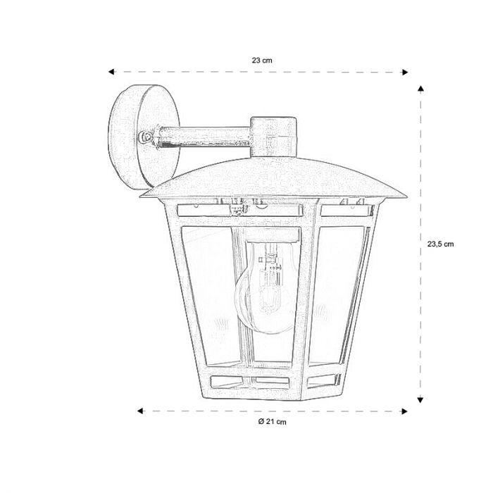 Moderne Buitenlamp Jeda - Zwart