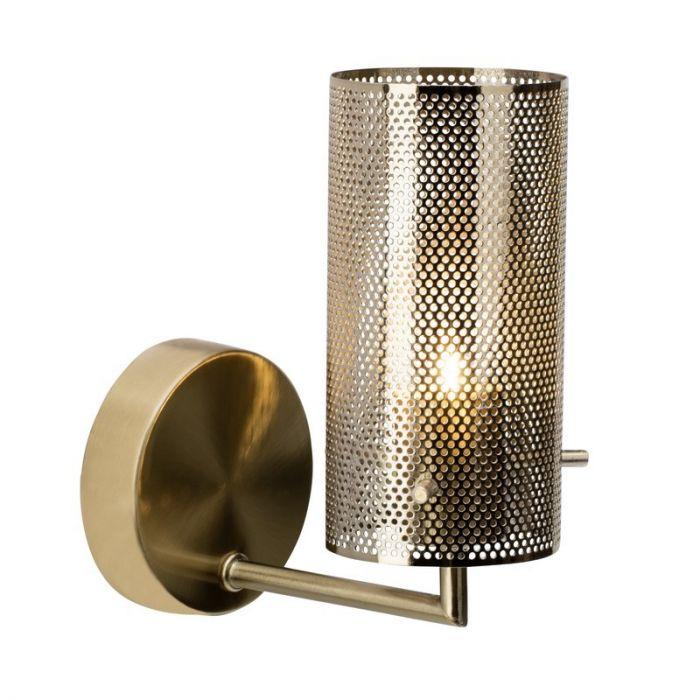Moderne wandlamp Albina, Messing