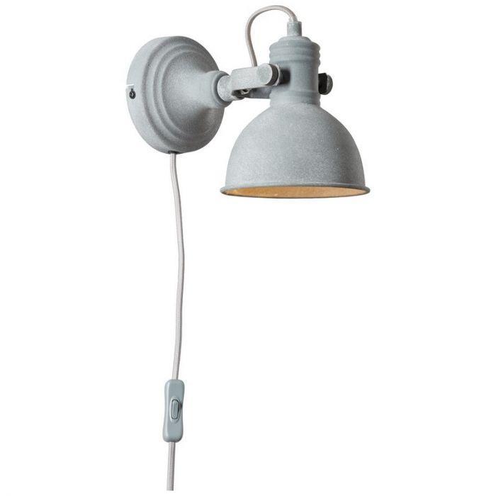 Landelijke wandlamp Alexis, Grijs