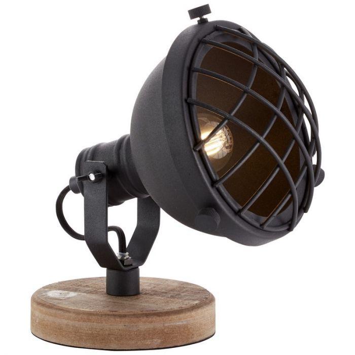 Landelijke tafellamp Aliza, Zwart