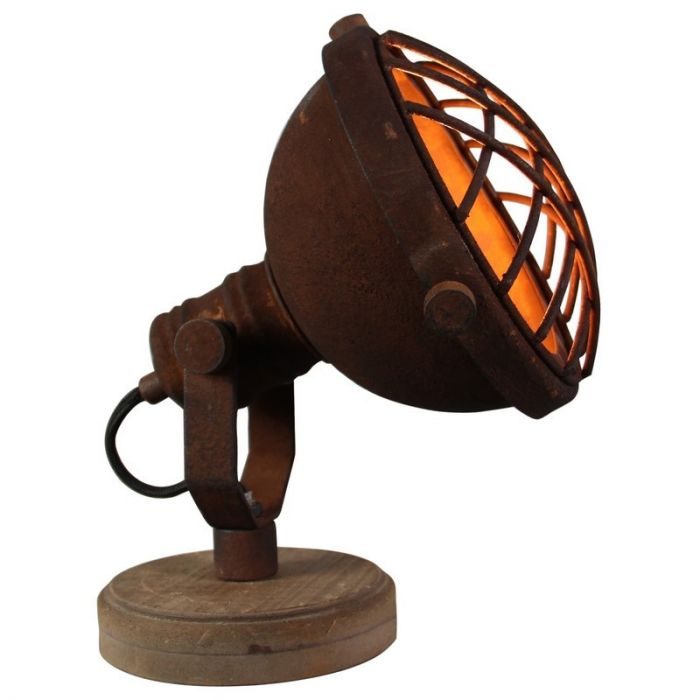 Landelijke tafellamp Aliza, Roestbruin