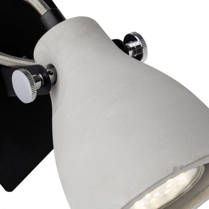 Moderne wandspot Anouck, Zwart en Grijs