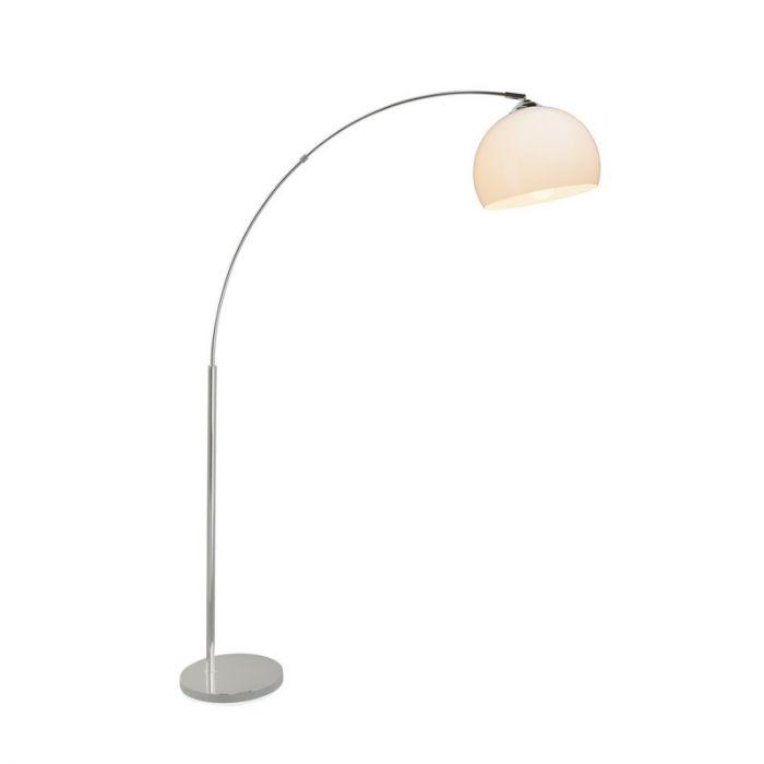 Moderne booglamp Ariana, Chroom en Wit