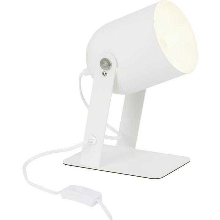 Moderne tafellamp Arlette, Wit