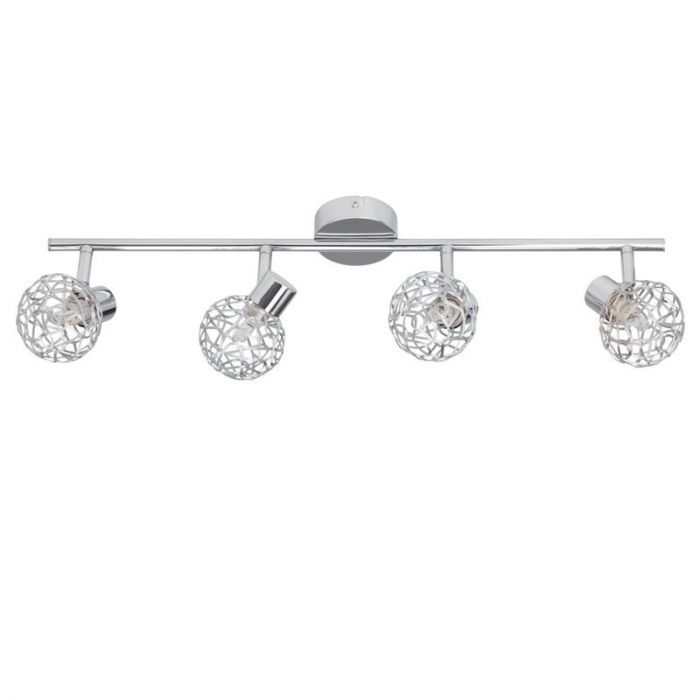 Moderne plafondlamp Lara, Chroom