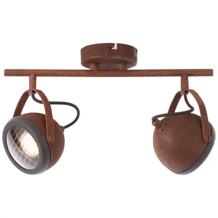 Klassieke plafondlamp Amber, Roest